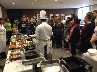 York U cooking class