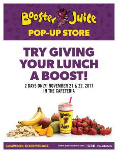 Booster Juice Pop-Up Store @ Glendon Cafeteria
